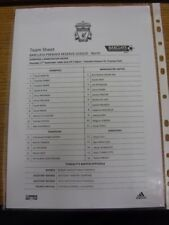 17/09/2009 Liverpool Reserves v Manchester United Reserves [At Tranmere Rovers]
