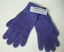 Purple lambswool gloves ladies womens wool woollen winter NEW Made in Scotland