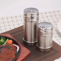 Stainless Steel Seasoning Bottle Condiment Jar Spice Glass Seal Pepper Shaker US