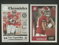 Lot Of 2 2020 TUA TAGOVAILOA Rookie Cards RC Chronicles And Score Base Dolphins