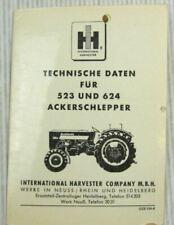 IHC 523 624 Ackerschlepper technische Daten McCormick Ausgabe um 1965/66