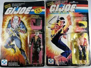 G.I Joe Orig. Hasbro Plastirama Espanol Figures Destro & Quick Kick. IN PACKAGE