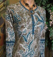 P.N.R(sz.M/L)Jersey dress.Long Raglan sleeve.Fashionable Crash Cami pattern.EUC