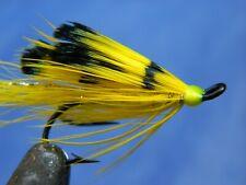 Yellow Ally's shrimp double hook fly Atlantic Salmon / Steelhead Size #6