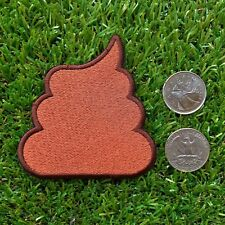Embroidered Poo Patch (3� x 3�) poop turd unchi unko kawaii emoji crap funny