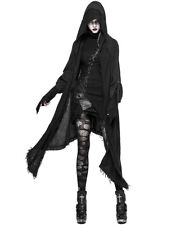 Punk Rave Womens Hooded Cloak Long Cardigan Black Gothic Post Apocalyptic Jacket