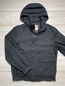 LEVI'S Mens Showerproof Hooded Bomber Jacket   Large L   Black