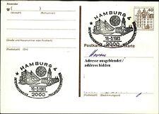Sonderstempel HAMBURG 1983 Internationales Philatelisten-Treffen auf Ganzsache