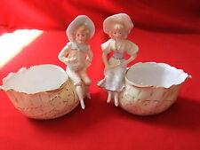 statue personnage coquillage couple vide poche figurine porcelaine vitrine