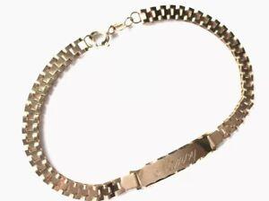"Vintage 9ct ROSE Gold Identity Engraved "" NANCY "" 7""/18cm Bracelet GIFT BOXED"