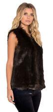 Faux Fur Gilet Cropped Coats & Jackets for Women