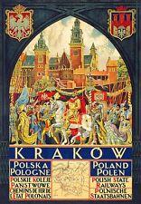 A3 Viaje Arte Cartel Cracovia Polska Polonia impresión