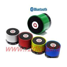 MINI BLUETOOTH SPEAKER RECHARGEABLE SPEAKERPHONE CAR COFFERS IPHONE 5 ANDROID 4