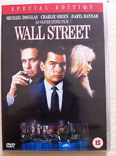 Michael Douglas Charlie Sheen WALL STREET Oliver Stone Banchiere Drammatico UK