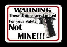 For Your Safety Decal Style 1 home warning window sticker defense
