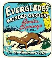Bonita Springs  FL Everglades Vintage Looking Travel Decal Luggage Label Sticker