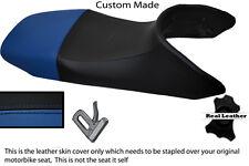 BLACK AND BLUE CUSTOM FITS HONDA TRANSALP XL 650 LEATHER SEAT COVER