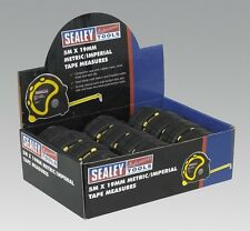 Sealey AK98912 Rubber Measuring Tape 5M 16Ft X19mm Metric Imperial Box Of 12