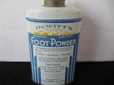 Vintage DeWitts Foot Powder Tin