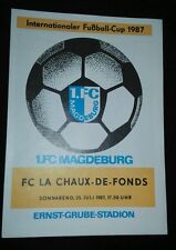 Programmheft 1.FC Magdeburg FC La Chaux-De-Fonds IFC Cup 25.7.87 DDR Schweiz FCM