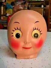 1940 Cloth Molded Doll Face With Moving Eyes Doll Parts For Making Dolls No.1