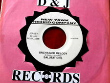 SALUTATIONS~ UNCHAINED MELODY~ NEAR MINT~ GLORIA~ ODD PRESSING ~ DOO WOP 45