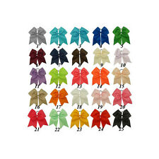 "7"" Cheer Bow With Pony O  Lot of 50 You Pick Colors"