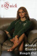 Abercrombie Small 1980's Style Rocker tShirt Slashed Trashed Banged out Cut up