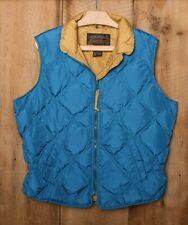 Vintage EDDIE BAUER Blue Quilted Goose Down Vest Women's Sz. L