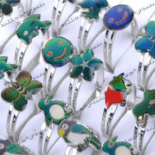 10pcs/lot Wholesale Fashion Rings Cartoon Change Mood Ring Adjustable Jewelry