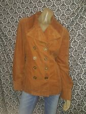 Mossimo Brown Double Breasted Long Sleeve Light Jacket Coat Womens XLARGE USED