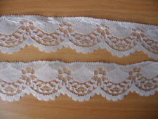 1 meter WHITE LACE RIBBON 3 CM WIDE  DIY EMBROIDERED FOR SEWING DECORATION