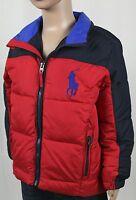 Children POLO Ralph Lauren Red Navy Blue Puffer Big Pony Coat Jacket NWT $175
