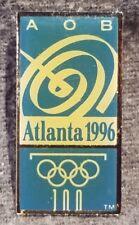 LMH Pin Pinback Lapel 1996 OLYMPICS Atlanta Games AOB Olympic Broadcasting Media