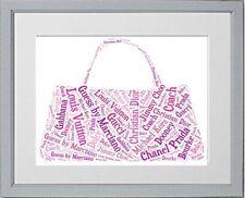 Handbag Personalised Word Art 18th Birthday Christmas Gift **Print Only**