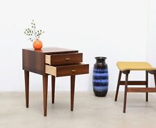 60s Vintage Danish Modern ROSEWOOD Nightstand Side Table Entry Chest Mid Century