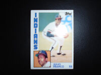 1984 Topps Julio Franco SS Cleveland Indians Baseball Team Collectors Card #48