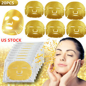 20pc Bio-Collagen Gold Facial Face Mask Anti Aging Tighten Skin Hydrating