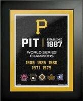"""Pittsburgh Pirates World Series Champions Photo (Size: 20"""" x 26"""") Framed"""