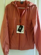 NWT Scottevest Pack-It Windbreaker Travel Jacket with 8 Pockets Rust S