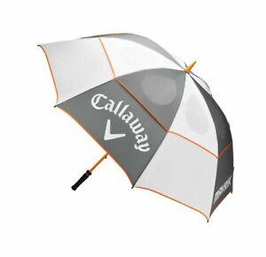 "NEW! Callaway Golf - 68"" Mavrik Double Canopy Umbrella White - Gray - Orange"