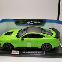 Maisto 2020 Mustang Shelby GT500 1:18 Special Edition Diecast Car- Green/Black