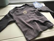 IMPS & ELFS 0-3 Months Body Top Long Sleeved Organic Cotton Dark  Grey  BNWT