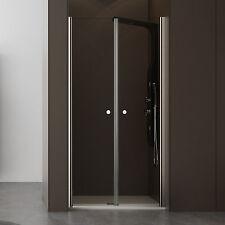 Box doccia nicchia 80 cm trasparente apertura saloon 6mm profilo alluminio cromo