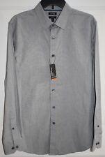 Apt 9 Men's Dress Shirt Premier Flex Slim Fit tiny patterned Gray SZ M NWT