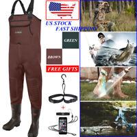 HISEA Fishing Waders Neoprene Waterproof Insulated Cleated Bootfoot Chest Waders