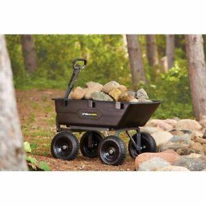 Garden Cart Wagon - Wheelbarrow Tractor Dump Yard - Black Wheelbarrow - 1200 ıb