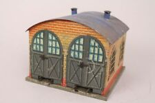 Bing Eisenbahnschuppen Haus Gebäude 2 Spuren H0 Blechspielzeug
