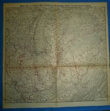 1922 RAILROAD Map ~ NEW YORK - CHICAGO PERCENTAGE TERRITORY IN THE UNITED STATES