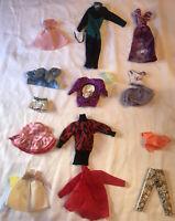 Mixed Lot Of Barbie, Skipper And Ken Clothes